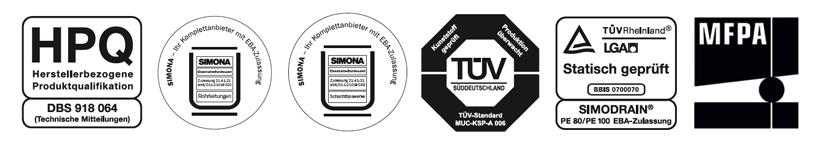 SIMODRAIN Zertifikate
